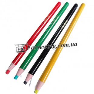 карандаш для кроя красный,зеленый,черный,желтый